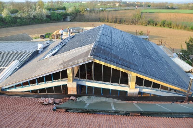 Inizio lavori di isolamento tetto