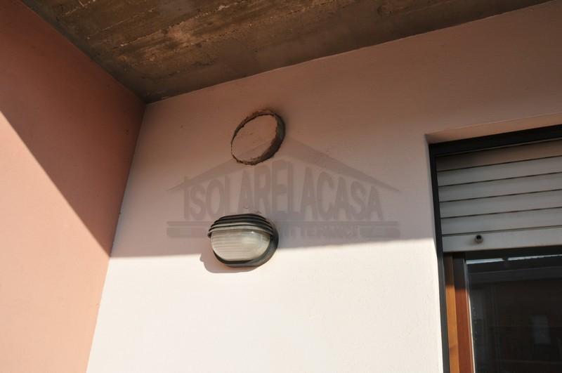 Muro esterno, foro di ventilazione