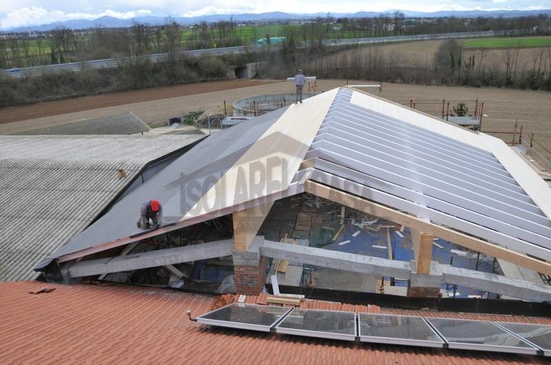 Isolamento del tetto con basso spessore