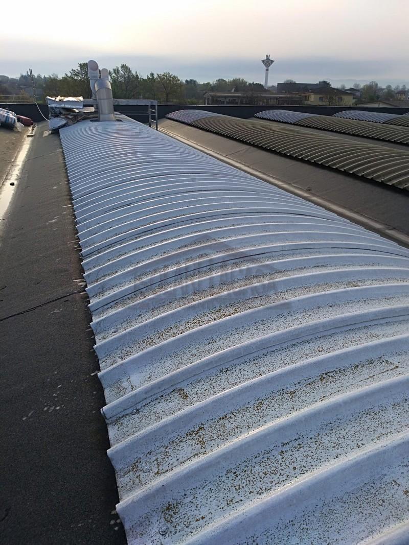 tetto capannone prima di isolamento termico