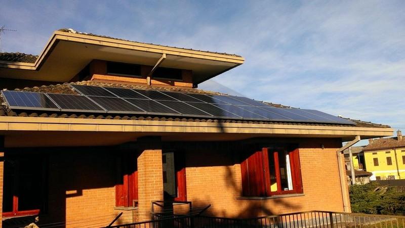 pannelli solari casa privata Frascaro