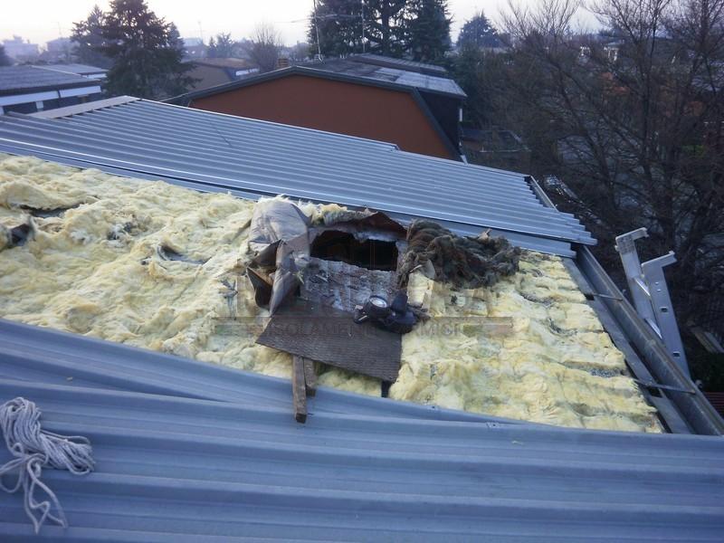 isolamento sottotetto passando dal tetto