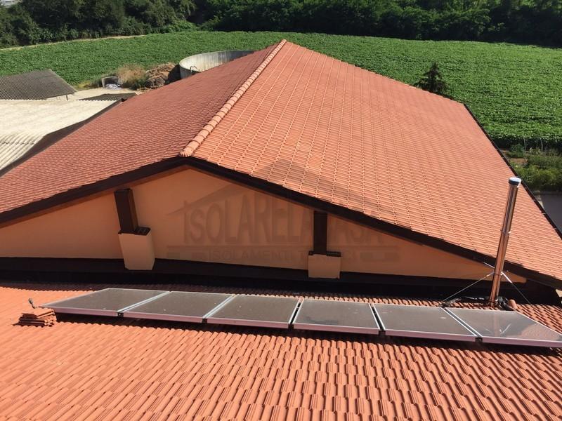 tetto isolato con isolante sottile multiriflettente