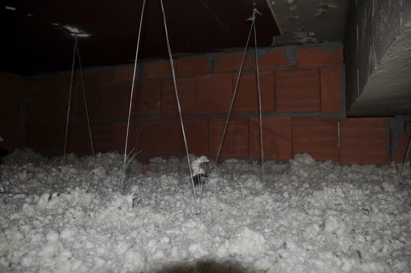 lana minerale in fiocchi per isolamento termico