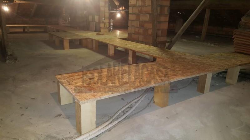 pannellatura in legno prima di isolamento